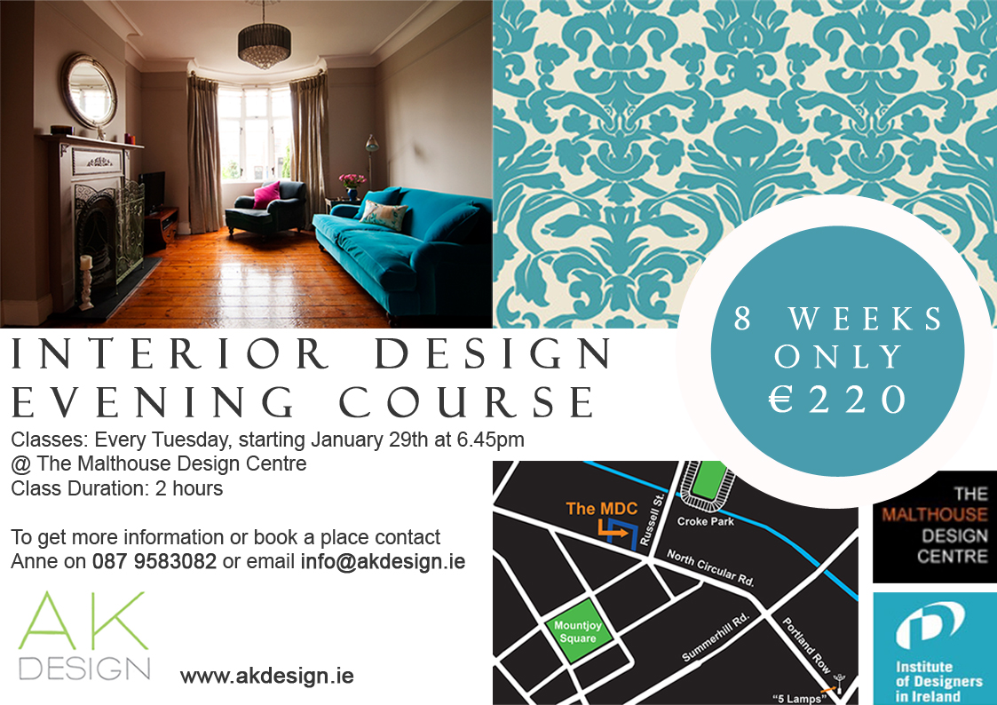 In services section for How to do interior design course
